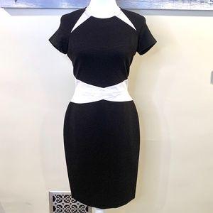 Antonio Melani Black and White Bodycon Dress